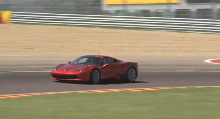 Ferrari тестирует 458 Challenge на закрытой трассе