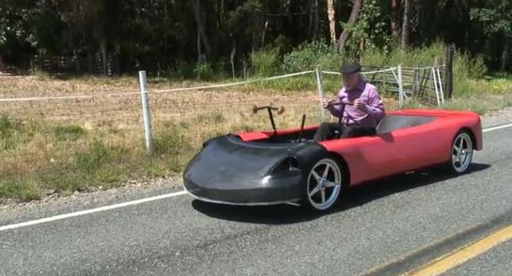 Американец создал автомобиль на «человеческой тяге»