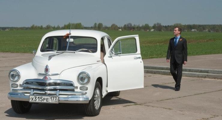 Стартовал автопробег с участием Януковича и Медведева