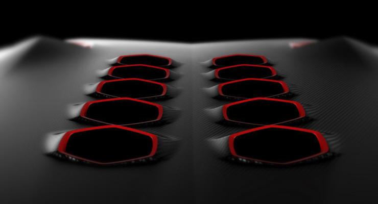 Lamborghini показала фрагмент нового суперкара