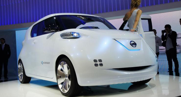 Парижский автосалон: Nissan Townpod – улыбающийся электромобиль