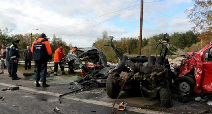 Под Житомиром столкнулись пять машин