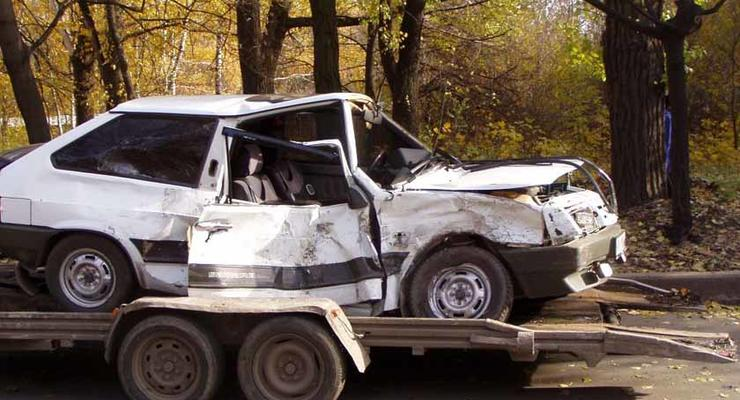 Восьмерка врезалась в маршрутку – семеро пострадавших