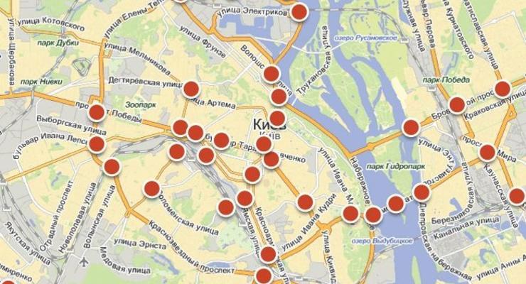 Путеводитель по киевским пробкам – карты с описаниями