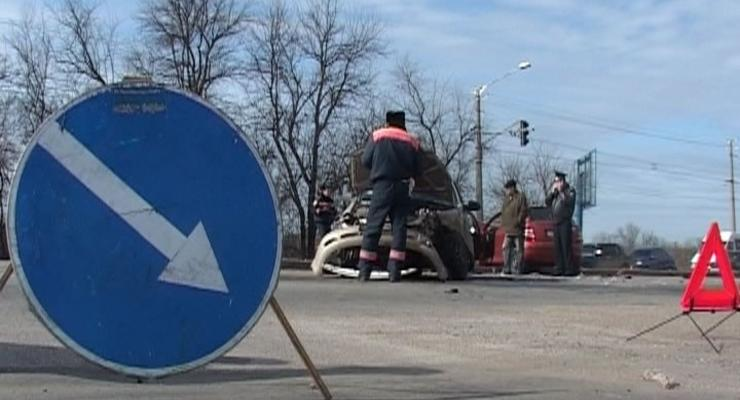 На ледяной дороге разбился Daewoo – двое погибших
