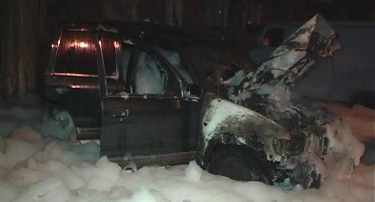 Ночью в Киеве сгорел автомобиль Kia