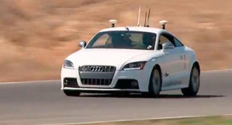 Audi без водителя гоняла по треку на скорости 190 км/ч