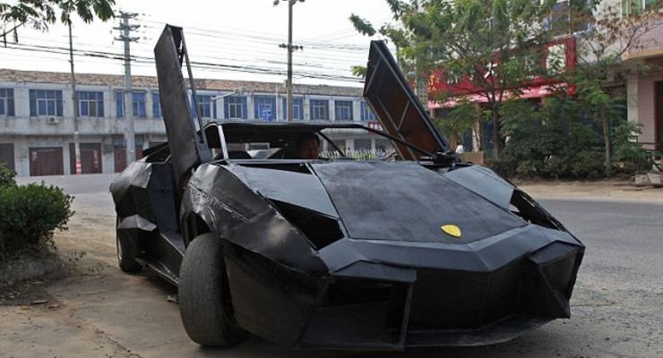 Китаец из хлама построил копию Lamborghini Reventon