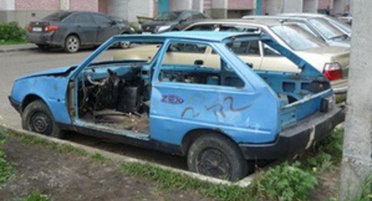 В Киеве будут утилизировать брошенные на улице авто