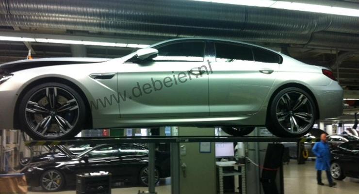Новый спортседан BMW M6 засняли прямо на заводе
