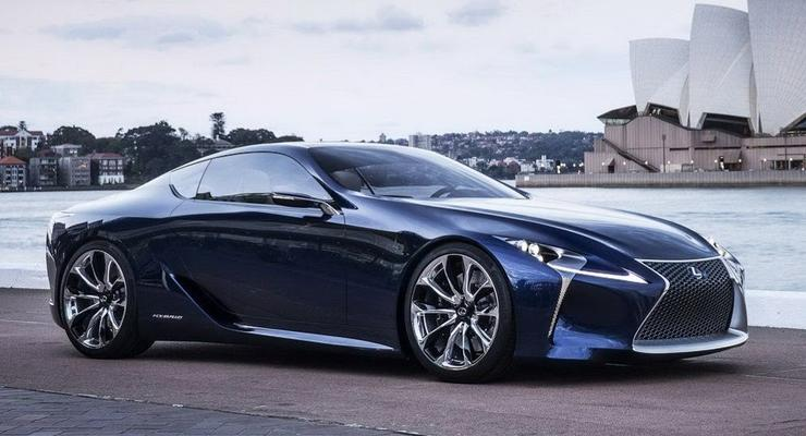 Lexus LF-LC представили публике в новой одежке