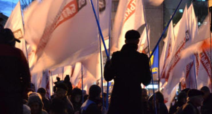 ГАИ советует объезжать перекрытые митингующими улицы