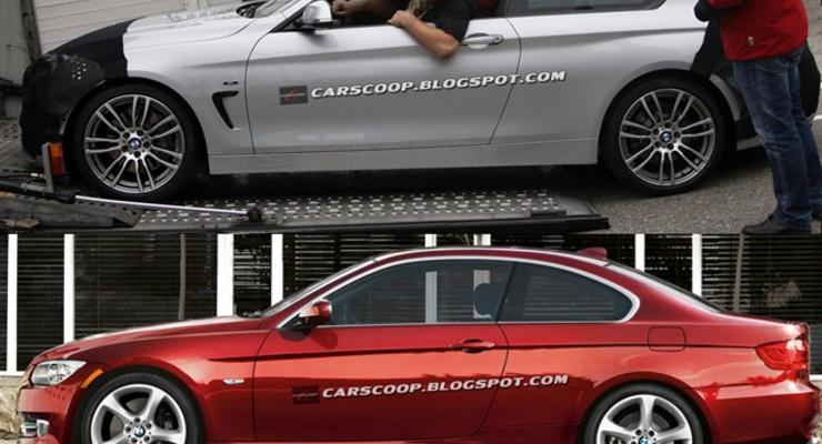 Четверку BMW сфотографировали почти без камуфляжа