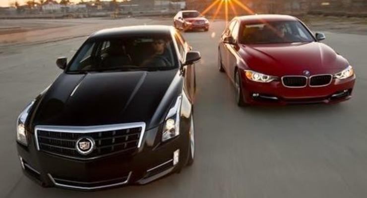 Новый Cadillac ATS выставили против BMW и Mercedes