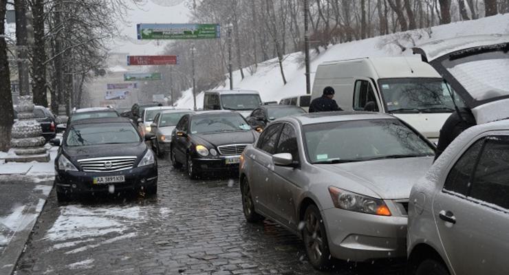 Киевские водители не пускали чиновников в Кабмин