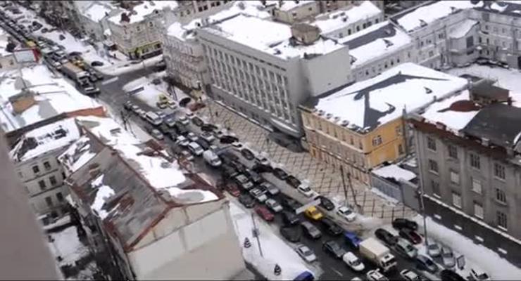 Ради кортежа гаишники перекрыли центр Киева