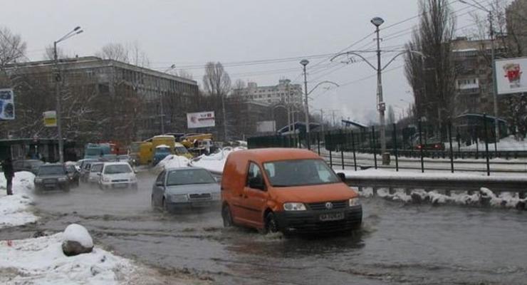 Карта затопления Киева и советы, как уберечь машину