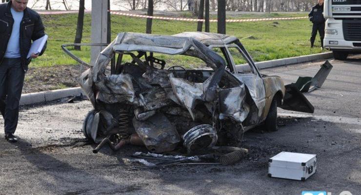 Внедорожник врезался в Таврию, водитель сгорел