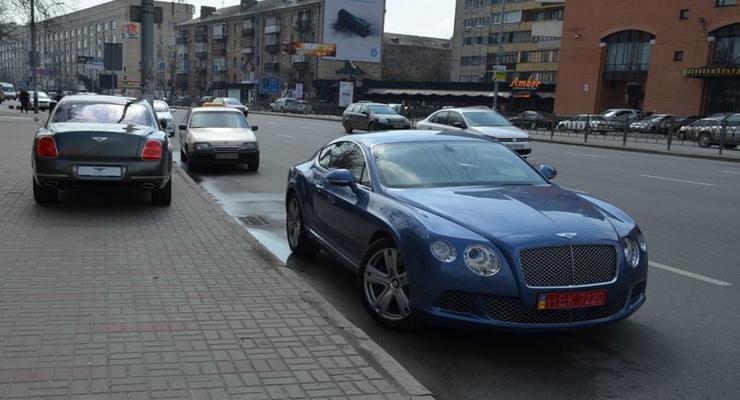 За неделю в Киеве купили три Ferrari и четыре Bentley