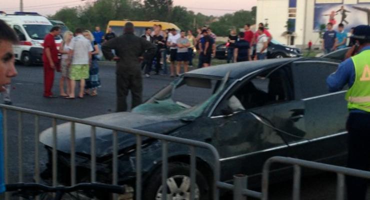 Милицейский Volkswagen устроил крупную аварию