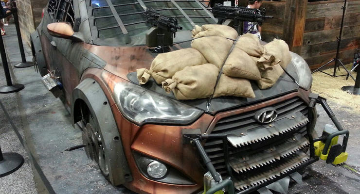 Представлен Hyundai с пулеметом для защиты от зомби