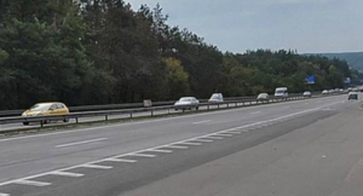 С 10 августа трассу Киев-Одесса частично перекроют
