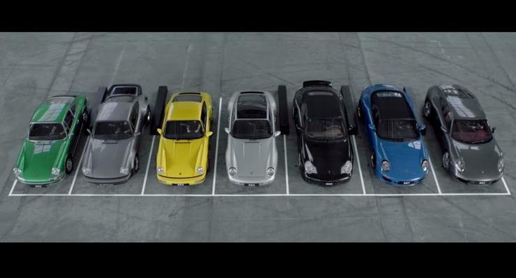 Семь Porsche 911 спели песню Happy Birthday To You