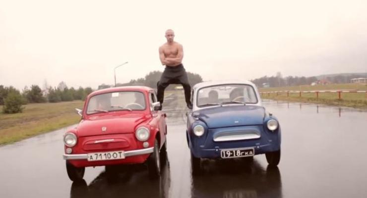 Белорус повторил трюк Ван Дамма... на Запорожцах
