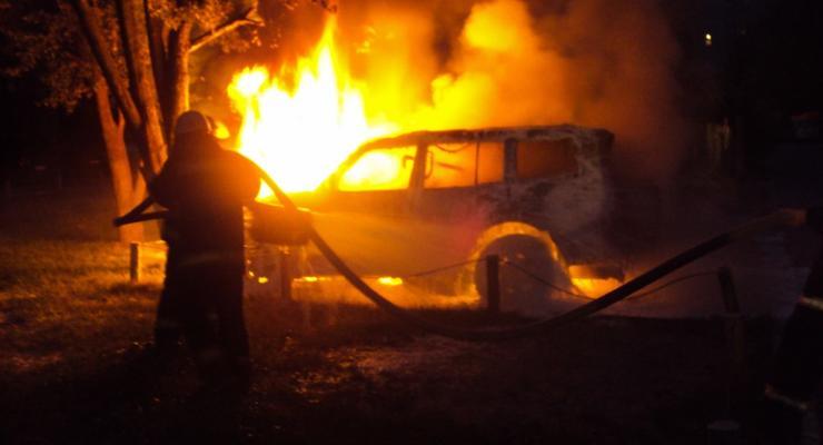В Донецкой области в машине сгорел начальник ГАИ
