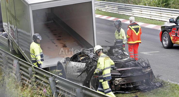 Концепт Acura NSX сгорел дотла в ходе испытаний