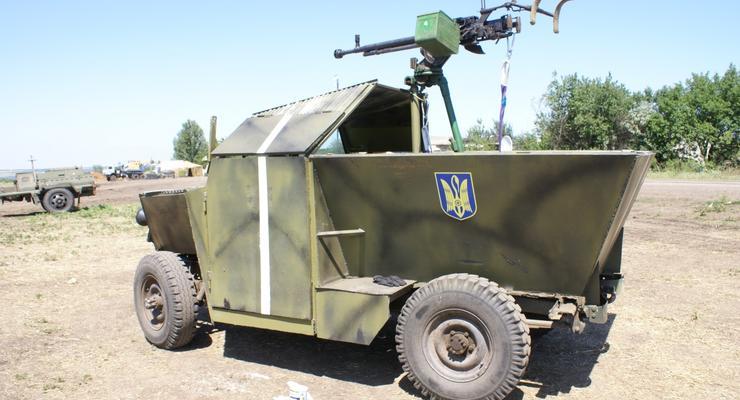 Самодельный броневик Скорпион прошел испытания в зоне АТО (фото)