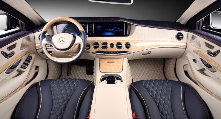 Салон бронированного Mercedes-Benz обшили кожей крокодила (фото)