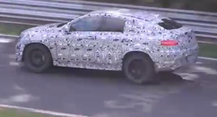 Mercedes-Benz тестирует новый кроссовер - конкурента BMW X6 (видео)