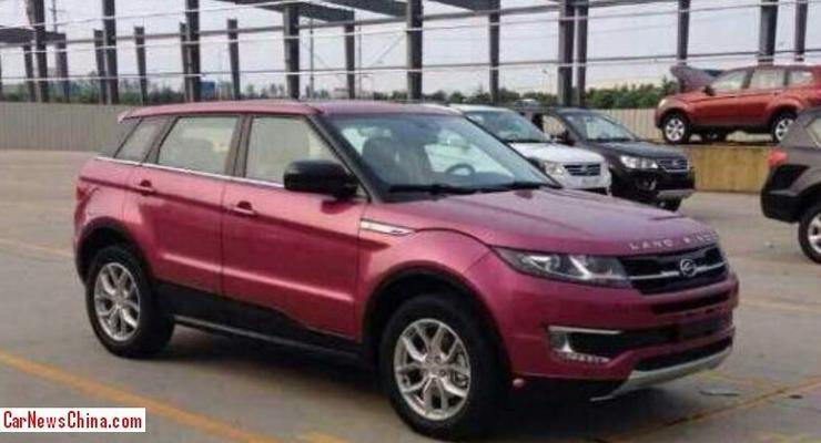В Китае создали дешевый клон Land Rover Evoque