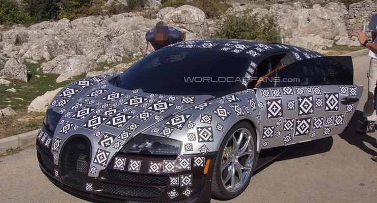 Шпионы сфотографировали преемника Bugatti Veyron (фото)