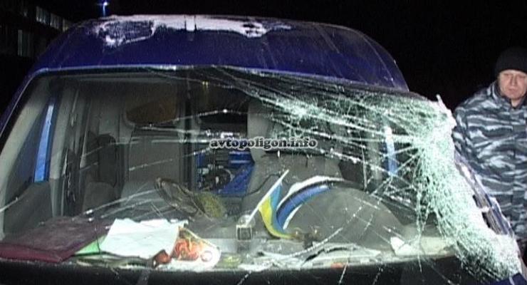 В Киеве Volkswagen протаранил грузовик DAF (видео)