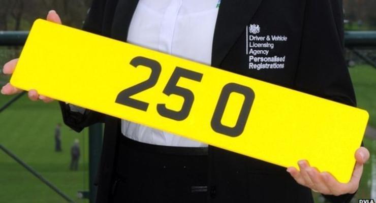 В Британии за автомобильный номер заплатили 815 тысяч долларов