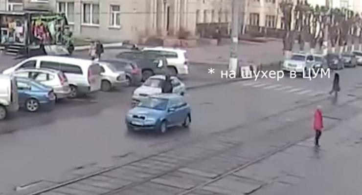 В Днепродзержинске удалось снять процесс угона роскошного авто (видео)