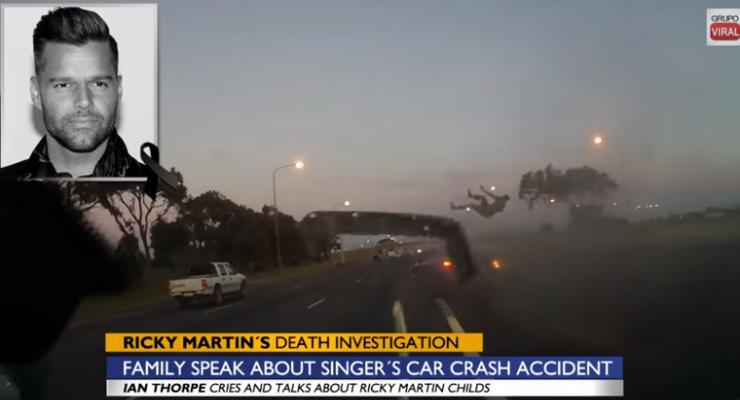 Журналисты приписали певцу Рикки Мартину смерть в страшной аварии (видео)
