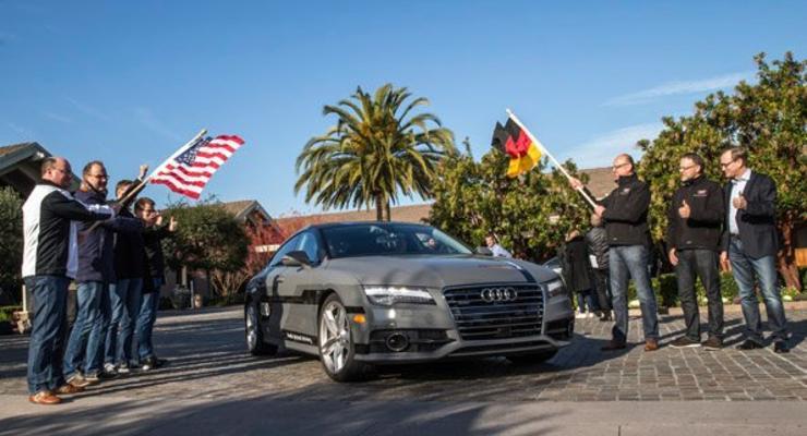 Audi отправил A7 с автопилотом в путешествие длиной в 885 километров