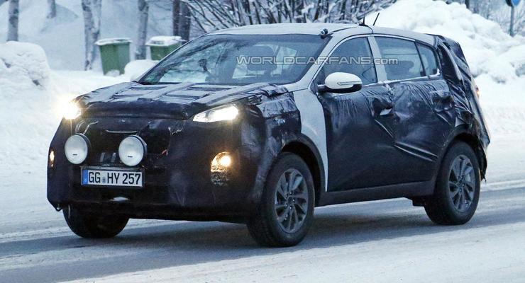 Новое поколение Kia Sportage вывели на тесты (фото)