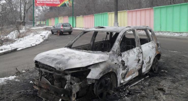 В Киеве из-за обрыва электрокабеля сгорела Toyota