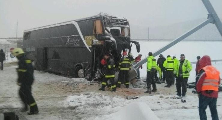 В Словакии разбился автобус Прага-Ужгород: один украинец погиб