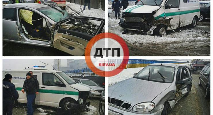 Подробности аварии у Гидропарка: в ДТП погиб милиционер (видео)