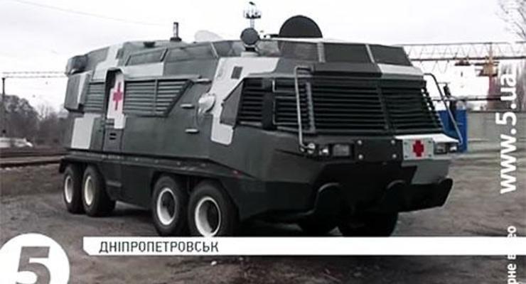 В Днепропетровске создали новый санитарный БТР (видео)