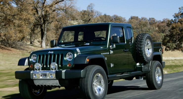 Jeep анонсировал создание пикапа на базе Wrangler