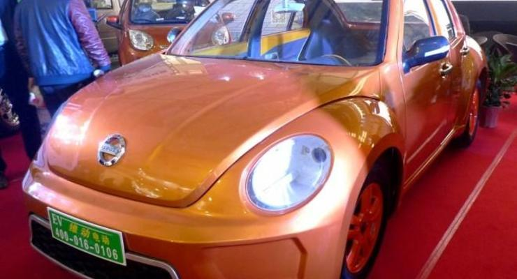 """Китайские """"мастера"""" внаглую скопировали VW Beetle (фото)"""