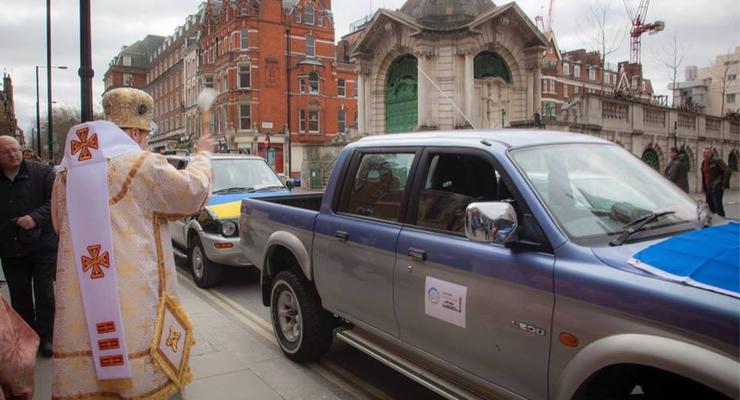 Волонтеры из Лондона подарили бойцам АТО три внедорожника (видео)