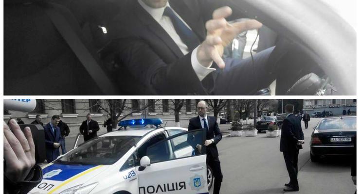 Яценюк и Аваков протестировали новый патрульный автомобиль