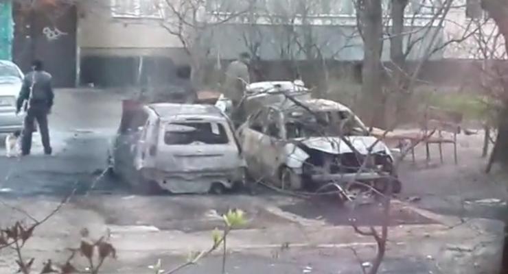 В Киеве в ночь на 9 апреля сожгли машины (видео)